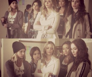lucy hale, ashley benson, and aria montgomery image