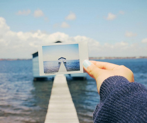 photography, blue, and sea image