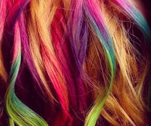 hair, colorful, and colors image
