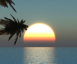 beach, paradise, and rise image
