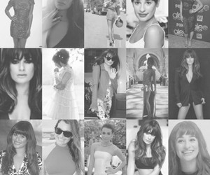Collage, glee, and lea michele image