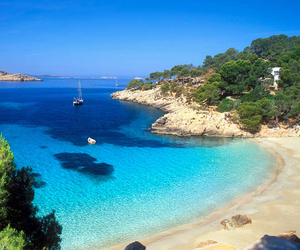 beach, ibiza, and sea image