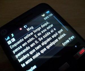 love, celular, and sms image
