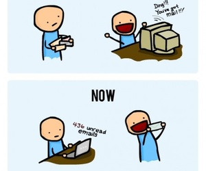 funny, mail, and email image