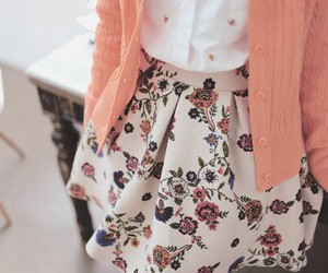 skirt, floral, and flowers image
