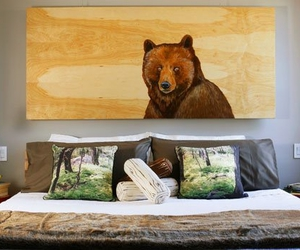 bear, decoration, and bedroom image