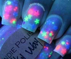 nails, stars, and neon image