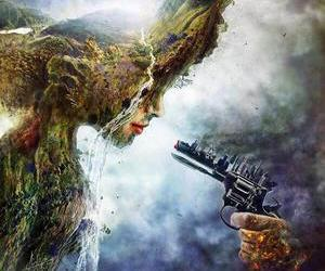 city, destroy, and nature image