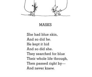 mask, poem, and quotes image