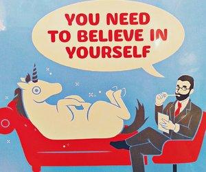 believe and unicorn image