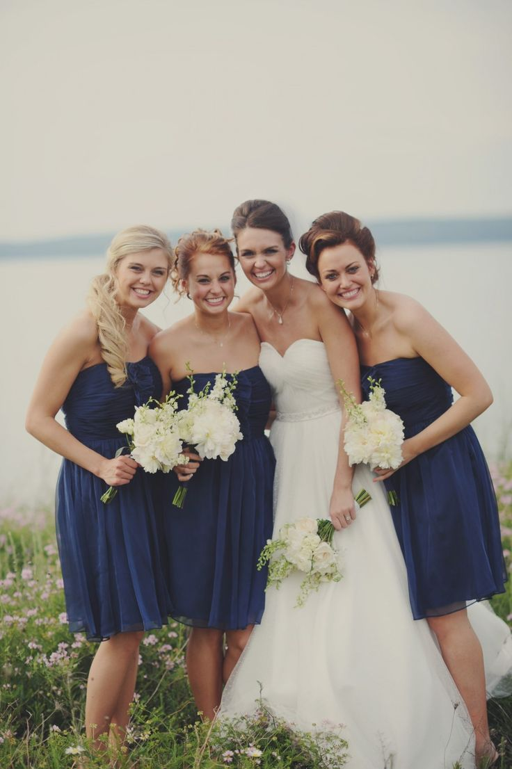 Navy blue bridesmaids dresses shared by beth on we heart it izmirmasajfo