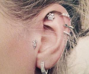 diamonds, ear, and tragus image