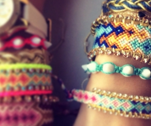 jewelry, watch, and friendship bracelets image