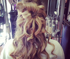 blonde, curls, and Prom image