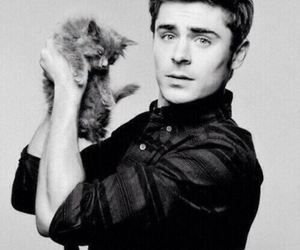 zac efron, cat, and sexy image