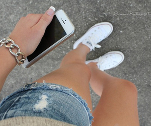 iphone, converse, and summer image