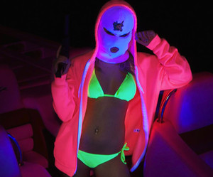spring breakers, neon, and pink image