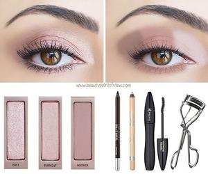 Nude, eyes, and eyeshadow image