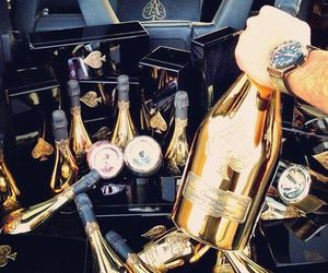 champagne, gold, and luxury image