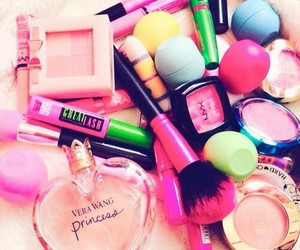 make up, eos, and makeup image