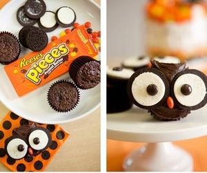 owl, chocolate, and food image