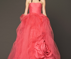 coral, dress, and Vera Wang image