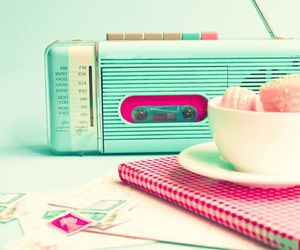 radio, vintage, and pink image