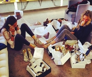 girl, shoes, and shopping image