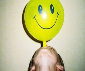 smile, balloons, and grunge image