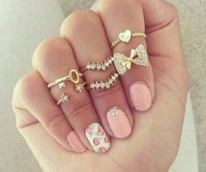 accessories, gold, and heart image