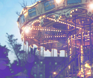 carousel, happy, and young image