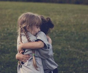 girl, friends, and hug image