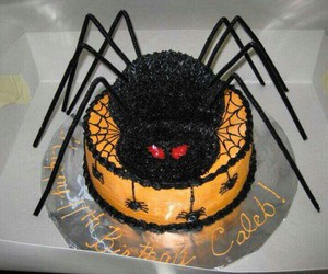 birthday, cake, and spiderweb image
