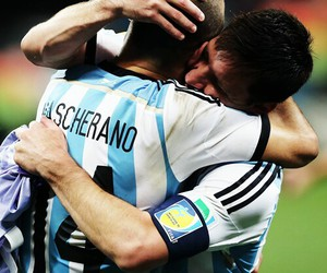 abrazo, final, and messi image