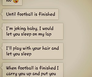 bed, couple, and football image