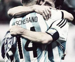 argentina, messi, and mascherano image