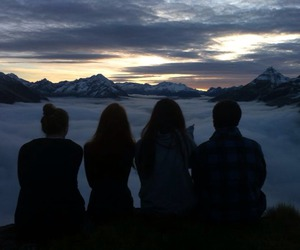 friends, sky, and grunge image