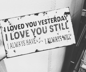 love, always, and yesterday image