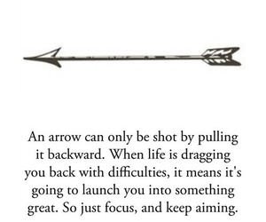 arrow, difficult, and life image