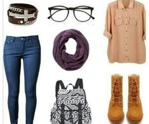 outfit, school, and clothes image