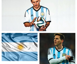 argentina, messi, and blue image