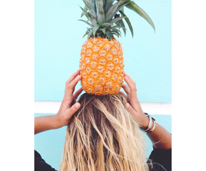 pineapple, girl, and summer image