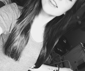black and white, girl, and ombre image