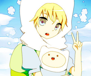 finn, adventure time, and anime image
