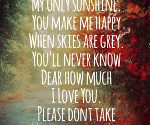 love, sunshine, and quote image