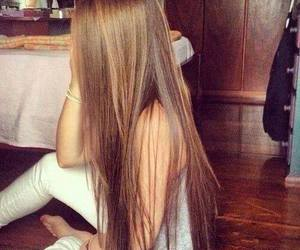 hair, girl, and long hair image
