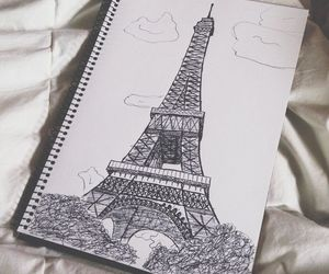 drawing, paris, and art image