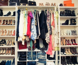 closet, clothes, and girl image