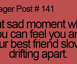 friend, sad, and drifting image