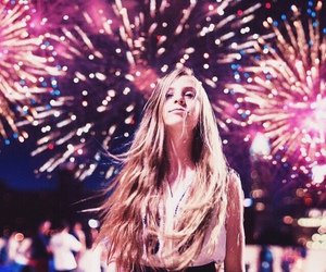 fireworks, girl, and photography image
